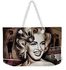 Weekender Tote Bag featuring the painting   Marilyn Monroe 4  by Andrzej Szczerski