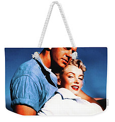 Weekender Tote Bag featuring the photograph Marilyn Monroe Blond Bomb Shell Clash By Night by R Muirhead Art