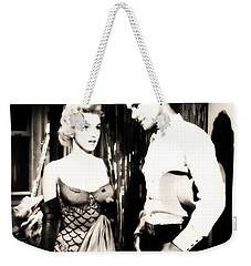 Weekender Tote Bag featuring the photograph Marilyn Monroe Blond Bomb Shell by R Muirhead Art