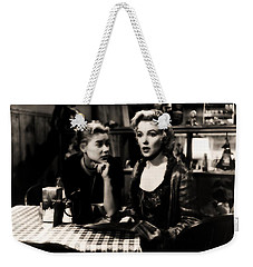Weekender Tote Bag featuring the photograph Marilyn Monroe Blond Sex Goddess by R Muirhead Art