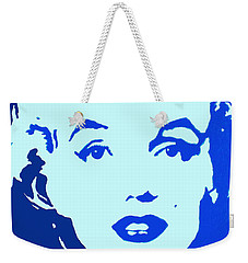 Marilyn Monroe Blue Pop Art Portrait Weekender Tote Bag