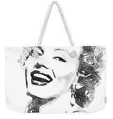 Marilyn Monroe Bw Portrait Weekender Tote Bag
