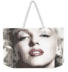 Marilyn Monroe - Colored Verticals Weekender Tote Bag