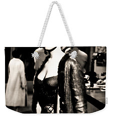 Weekender Tote Bag featuring the photograph Marilyn Monroe Dressed To Trill In Bus Stop by R Muirhead Art