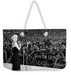 Marilyn Monroe Entertaining The Troops In Korea Weekender Tote Bag