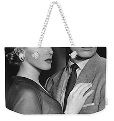 Weekender Tote Bag featuring the photograph Marilyn Monroe In Don't Bother To Knock by R Muirhead Art