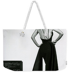 Weekender Tote Bag featuring the photograph Marilyn Monroe In Gentlemen Prefer Blondes by R Muirhead Art