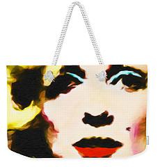 Weekender Tote Bag featuring the painting Marilyn Monroe by Joan Reese
