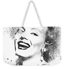 Marilyn Monroe Scribbles Portrait Weekender Tote Bag