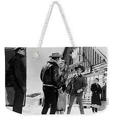 Weekender Tote Bag featuring the photograph Marilyn Monroe Western Scene by R Muirhead Art