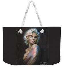 Marilyn Romantic Ww 4 Blue Weekender Tote Bag