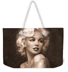 Marilyn Ww Sepia Weekender Tote Bag