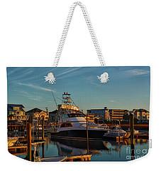 Marina At Sunset Weekender Tote Bag