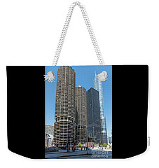 Marina City, Ama Plaza, And Trump Tower Weekender Tote Bag