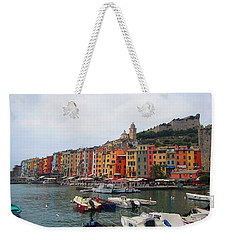 Weekender Tote Bag featuring the photograph Marina Of Color by Christin Brodie