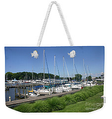 Marina On Black River Weekender Tote Bag