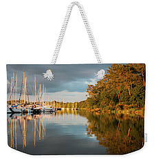Weekender Tote Bag featuring the photograph Marina Sunset 10 by Geoff Smith