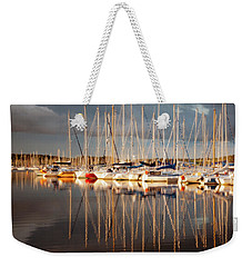 Weekender Tote Bag featuring the photograph Marina Sunset 6 by Geoff Smith