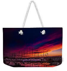 Marina Sunset Weekender Tote Bag