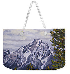 Weekender Tote Bag featuring the painting Marina's Edge, Jenny Lake, Grand Tetons by Erin Fickert-Rowland