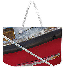 Weekender Tote Bag featuring the photograph Marine Abstract by Charles Harden