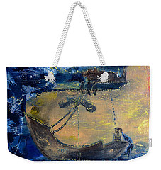 Weekender Tote Bag featuring the painting Marine Ecosystem by Evelina Popilian