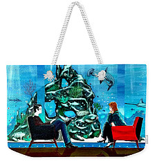 Marinelife Observing Couple Sitting In Chairs Weekender Tote Bag