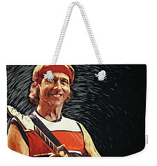 Mark Knopfler Weekender Tote Bag by Taylan Apukovska