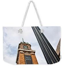Market Clock Tower Weekender Tote Bag by Dale Kincaid