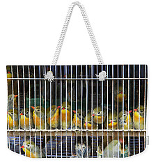 Market Finches Weekender Tote Bag