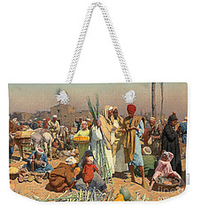 Market In Lower Egypt  Weekender Tote Bag by Leopold Karl Muller