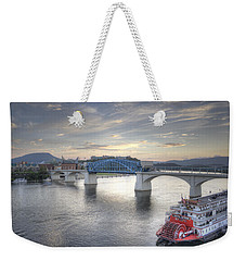 Market Street Bridge Weekender Tote Bag by David Troxel