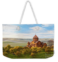 Marmashen Monastery Surrounded By Yellow Trees At Autumn, Armeni Weekender Tote Bag by Gurgen Bakhshetsyan