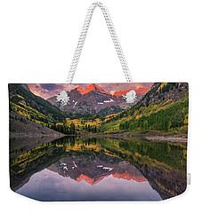 Maroon Bells At Sunrise Weekender Tote Bag