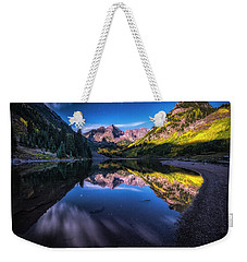 Maroon Bells By Moonlight Weekender Tote Bag