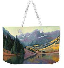 Maroon Bells In October Weekender Tote Bag by Janet King