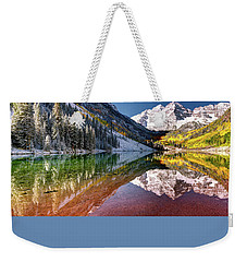 Maroon Bells At Dawn Weekender Tote Bag