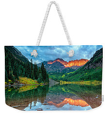 Maroon Bells Sunrise Weekender Tote Bag
