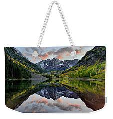 Maroon Bells Sunset Weekender Tote Bag