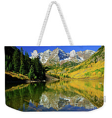 Maroon Lake Autum - 1 Weekender Tote Bag