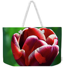 Maroon Tulip Weekender Tote Bag