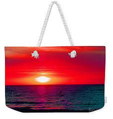 Mars Sunset Weekender Tote Bag