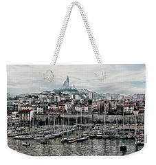 Weekender Tote Bag featuring the photograph Marseilles France Harbor by Alan Toepfer