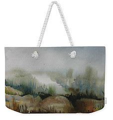 Weekender Tote Bag featuring the painting Marsh by Anna  Duyunova