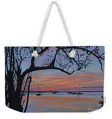 Marsh Harbour At Sunset Weekender Tote Bag