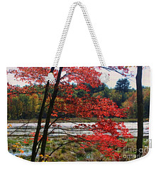 Marsh In Autumn Weekender Tote Bag
