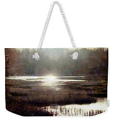 Weekender Tote Bag featuring the photograph Marsh Moods - At The End Of The Day - Horizontal by Janine Riley