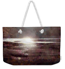 Weekender Tote Bag featuring the photograph Marsh Moods - At The End Of The Day - Vertical by Janine Riley