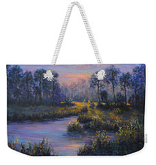 Marsh Sunset Nature Wetland Trees Print Of Panting Weekender Tote Bag