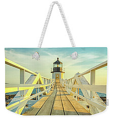 Marshall Point Light Weekender Tote Bag by Brian Caldwell